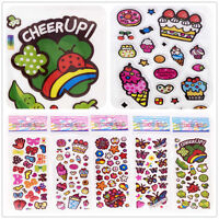 5 sheets Children Crafts Stickers Lot Dessert Flowers Kids Reward Party Gift US