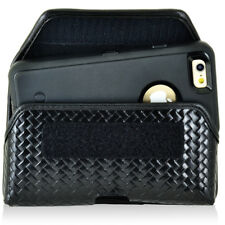 Genuine Leather Basket Weave Side Case fits Motorola Turbo 2,Turbo 1 with a cove