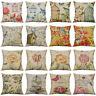 18'' Retro Birdcage Pillow Case Cotton Linen Throw Cushion Cover Home Decor