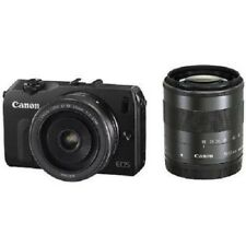 USED Canon EOS M with 18-55mm IS and 22mm STM Excellent FREE SHIPPING