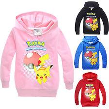 Pokemon infantil Sudaderas Pikachu Niña Niño Chaqueta Cárdigan Suéter