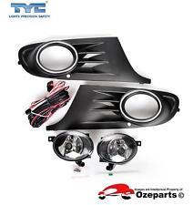 Full Set Fog Light Spot Driving Lamp Black For Volkswagen VW Golf MK6 2008~2012