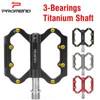 PROMEND 230g Ultralight Titanium Aluminium MTB Road Bike Pedals 3 Sealed Bearing