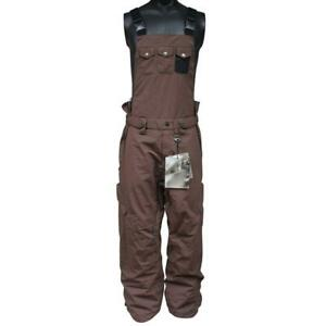 Oakley Over The Top Mens Snow Pants Size L Large Earth Brown Salopettes Overalls