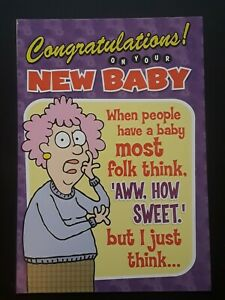 Funny Birth Congratulations card ~ New Baby ~ Baby Shower