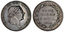 1814 George III three shillings bank of England silver coin