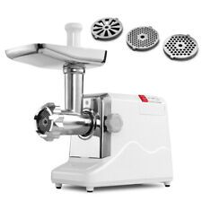 Electric Meat Grinder 1800 Watt w/ Sausage Maker & Kubbe Attachments SUS Blades