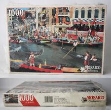 VINTAGE 80'S VENICE HISTORICAL REGATTA MOSAICO PUZZLE 1000 PCS CLEMENTONI NEW !