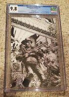 Walking Dead Deluxe 1 - CGC 9.8 - Finch Sketch Cover -  Comics Vault Exclusive