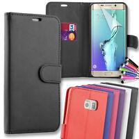 For Samsung Galaxy S7 Edge Premium Leather Flip Wallet Case Cover + Mini Stylus