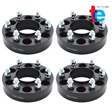 """4x Black 1.5"""" HubCentric Wheel Spacers Adapters 6x135 For 2004-2014 Ford F-150"""
