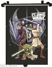 Star Wars - The Clone Wars - Car Window UV Protection Roller Blind Sun Shade