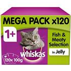 120+x+100g+Whiskas+1%2B+Adult+Wet+Cat+Food+Pouches+Mixed+Fish+%26+Meaty+in+Jelly