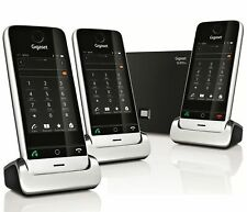 Siemens Gigaset SL910A Touchscreen Cordless Phone, Trio Handset