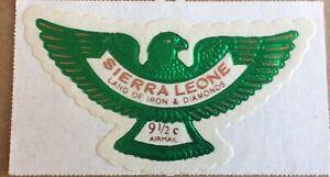Sierra Leone - Die Cut Eagle Foil Stamp - Green