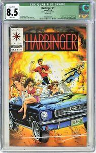 S016. HARBINGER #1 Valiant CGC Qualified 8.5 VF+ (1992) 1st App. of HARBINGER