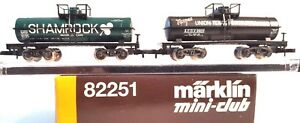 Marklin Z 82251 American Tank Freight Car Set Shamrock GATX, Texgas UTP ACDX NIB