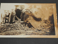 1900's Cabinet Photo of Boiler exsplosion leveled a building with 4 inspectors