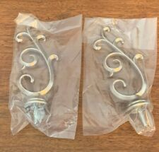 1 set of 2 Decorative Finials Curtain Rod Ends Nickel  NEW