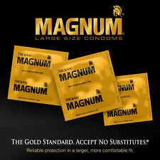 Trojan Magnum Gold collection large siz Condoms 3 pcs in 1 Pack