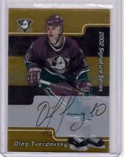 OLEG TVERDOVSKY 01/02 ITG BAP Be A Player AUTO GOLD Autograph Signed #148 Ducks