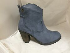 Refresh Cowboy Ankle Boots in Navy RRP£59.95 UK3 EU36 JS23 23 SALE