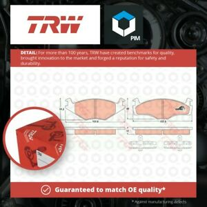 Brake Pads Set fits SEAT IBIZA 6K1 1.0 Front 96 to 99 With ABS TRW 867698151 New
