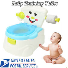 2 In 1 Kid Baby Toilet Training Children Safety Toddler Potty Trainer Seat Chair