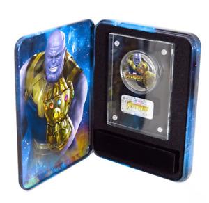 2018 Fiji 2 oz .999 Silver Avengers Marvel Infinity War THANOS Antiqued COA OGP