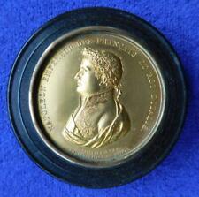 Napoleon Bonaparte Snuffbox Shell & Gilt Metal Circa 1800 - 1840