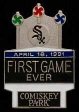 Chicago White Sox Baseball Pin Badge~MLB~Comiskey Park~First Game Ever~1991