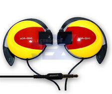 High Quality Yellow & Red over Ear Earphones MP3/MP4