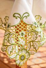"Oblong Table Cloth Green Chrysanthemum, 180x360cm (72""x144""), Home Decor FFD-017"