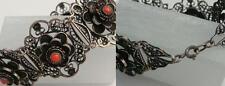 antigua 835 Pulsera plata con Coralino DECORADO! Oriental Diseño