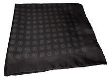 Ralph Lauren Burgundy Paisley Silk Polo Italy Pocket Square Scarf Handkerchief