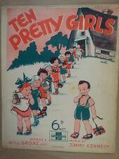 song sheet TEN PRETTY GIRLS Jimmy Kennedy 1937