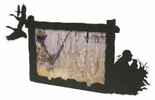 Goose hunting black metal 3x5H picture frame