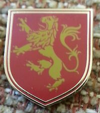 LION RAMPANT HERALDIC RED House of Lannister / Game of Thrones LAPEL PIN