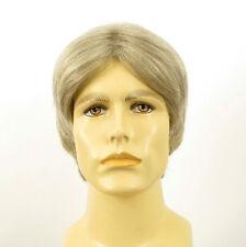 Perruque homme 100% cheveux naturel blanc méché gris MARTIN 51