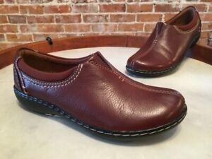 Clarks Brown Leather Ashland Joy Comfort Slip On Shoe Loafer 8.5 Sale