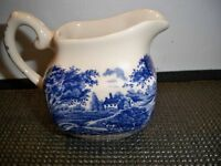 STAFFORDSHIRE CREAMER HAND ENGRAVED ENGLISH IRONSTONE