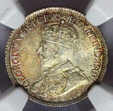 1921 Canada Ten 10 Cents Silver Coin - NGC MS 65 - KM# 23a - TOP POP
