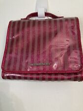 New Victorias Secret Striped Case Makeup Cosmetic Bag Travel