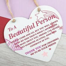 Special Thank You Best Friend Gifts Metal Heart Hanging Sign Friendship Gifts