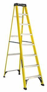 Louisville Ladder 8' Fiberglass Step Ladder, 250-lb Capacity, W-3118-08