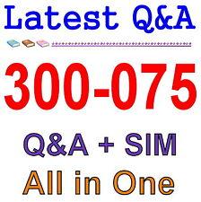 Cisco Best Practice Material For 300-075 Exam Q&A PDF+SIM