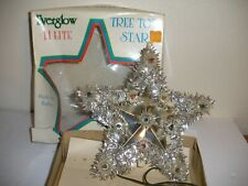 Vintage Everglow Lighted Tree Top 11 Lite Star In Box WORKS #2200