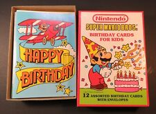 1989 Nintendo 12 Birthday Cards Envelopes Super Mario Bros Original Box NES era