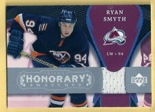 RYAN SMYTH 07-08 UPPER DECK TRILOGY HONORARY SWATCHES JERSEY COLORADO AVALANCHE