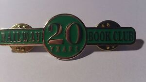 * Railway Book Club 20 years - Tie / Lapel Badge